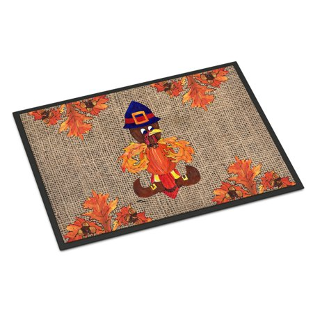 Thanksgiving Turkey Pilgrim Fleur de lis Door Mat Doormat
