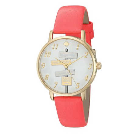 Kate Spade Metro Clocktower Gray Leather Ladies Watch Ksw1127