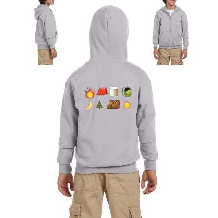 Artix - Emojis Hoodie Camping Artix Youth Hoodies Zip Up