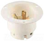 Cooper Wiring Devices CWL1220FO Flanged Outlet 20A 480V 3PH 3P3W H/L BW