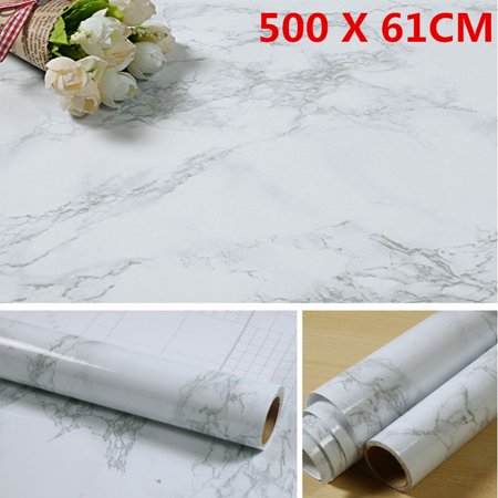 5m Thickened Waterproof Creative Granite Marble Effect Contact Paper Film Self Adhesive Peel Stick Wallpaper Wall Decoration - image 3 of 8