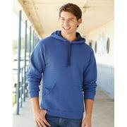 Sofspun Microstripe Hooded Pullover Sweatshirt Fruit of the Loom