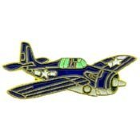 Fighter Wwii Aircraft - Metal Lapel Pin - Aircraft Pin - WWII Air Force/ Navy Fighter - F-4F Wildcat 1-1/2