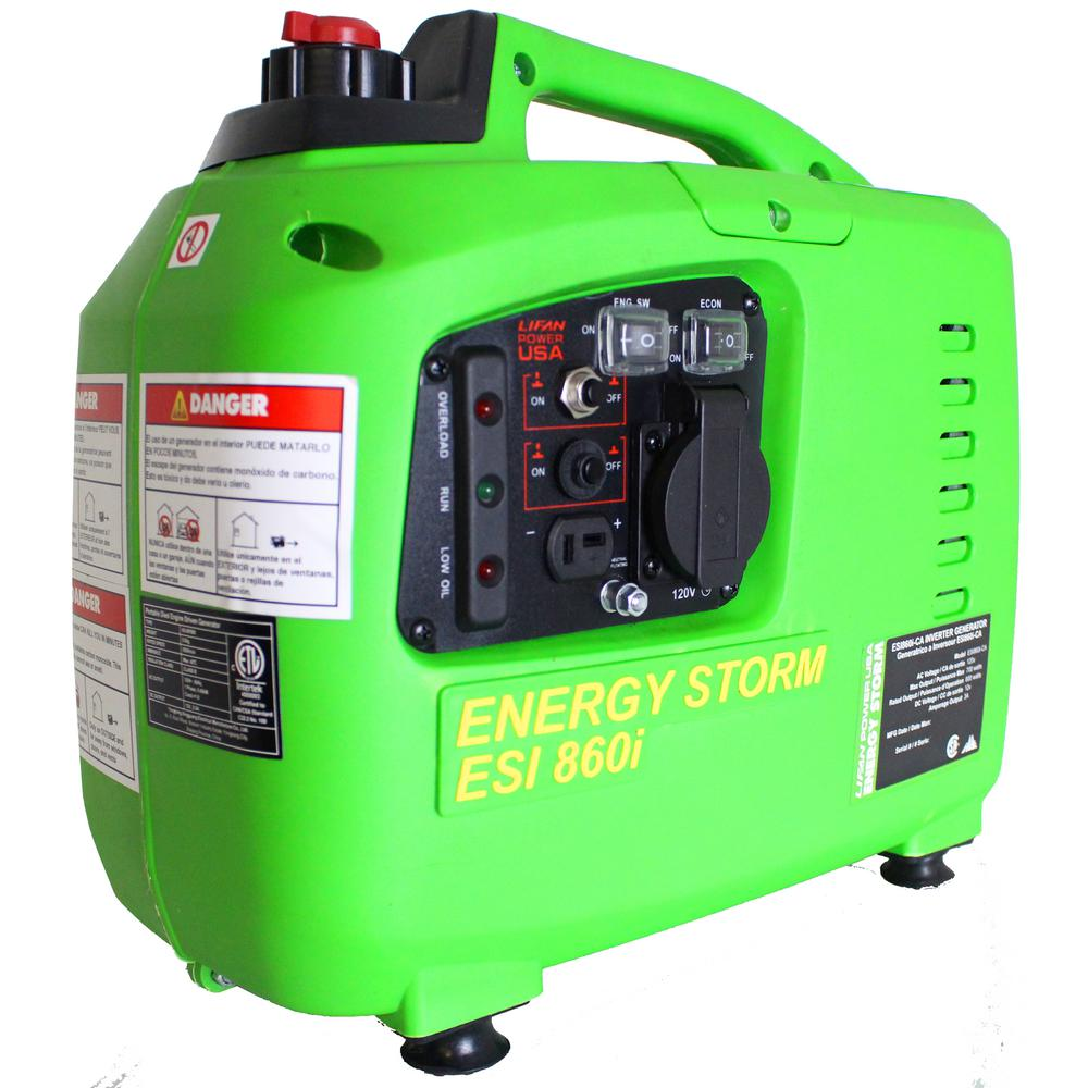 Lifan Energy Storm ESI 860i-CA Digital Inverter Generator, 40cc OHV 4-Stroke - Recoil Start with TDI Ignition, 700 watt Surge Power - 600 Watt Continuous