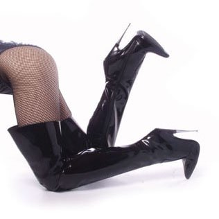 Scream-3010,  6'' Metal Heel Thigh Hi Boots - Scream Heels
