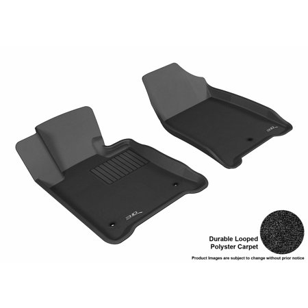 3D Maxpider 2009 2014 Acura Tl Fwd Front Row All Weather Floor Liners In Black Carpet