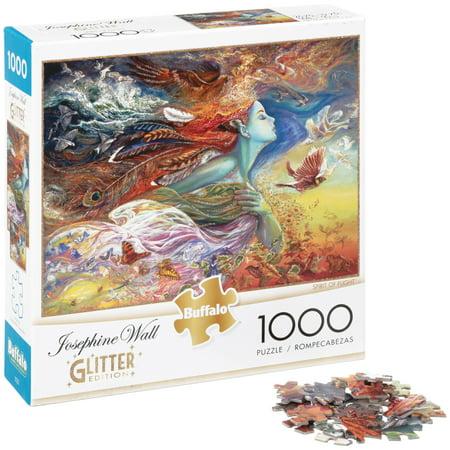 Buffalo™ Josephine Wall Spirit of Flight™ Glitter Edition™ 1000 pc Puzzle Box](Box Puzzle)
