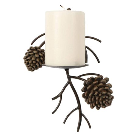 Pinecone Pine Cone Candle Wall Sconce Lodge Home Decor 1 unit, A unique yet classic touch for your Lodge or Natural home decor. SET OF 1. By DEI
