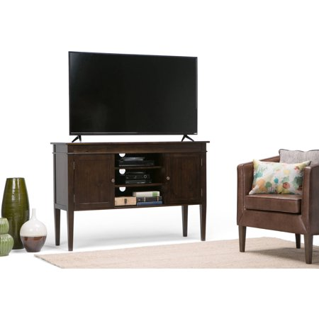 Brooklyn + Max Richland Collection 54″ Wide x 30″ High Dark Tobacco Brown TV Media Stand for TVs up to 60″