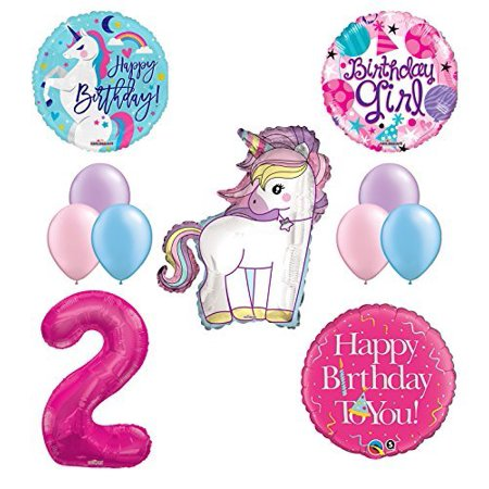 Unicorn 2nd Birthday Girl Party Supplies And Balloon Decorations