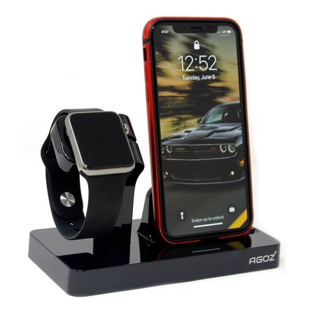timeless design 77c2d 49bcd Black Charging Dock Stand Station Charger Holder For Apple iWatch Watch  Series 4 3 2 1, iPhone X XS Max XR, iPhone 8 Plus, iPhone 8, iPhone 7 Plus,  ...