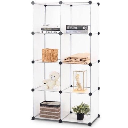 Costway DIY 8 Cubes Portable Closet Storage Organizer Clothes Wardrobe Cabinet - Jewelry Closet Recessed