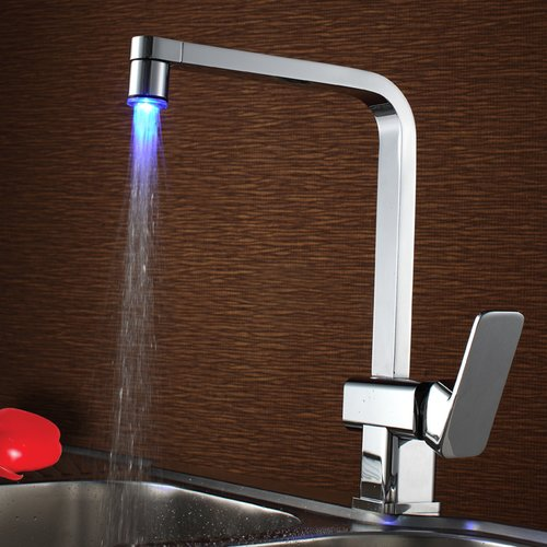 Sumerain International Group Single Handle Kitchen Faucet with LED Light