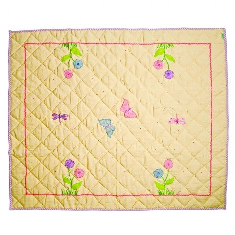 Win Green LBUTFQ Butterfly Cottage Floor Quilt44; Large