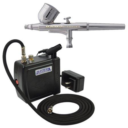 Master Gravity Airbrush Set & 16B Air Compressor Kit Dual-Action Hobby Cake