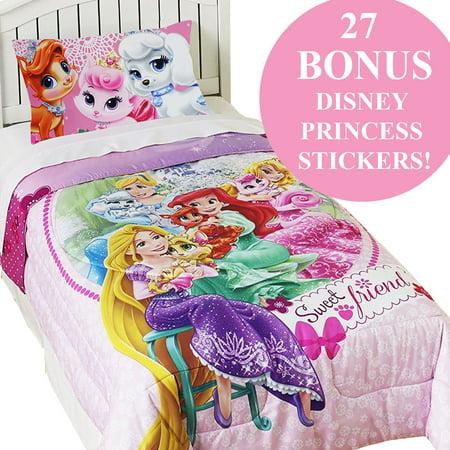 Palace Pets Twin Comforter Set Disney Princesses Sweet Pet ...