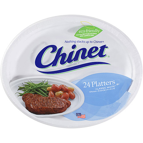 Chinet Platter Tray, 24 ct