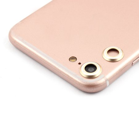 Back Camera Metal Lens Protective Cover Protector Gold Tone 2 PCS for iPhone 7