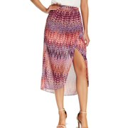 Laundry By Shelli Segal NEW Orange Women Size 8 Printed Maxi Skirt