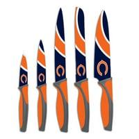 The Sports Vault NFL 5-Piece Kitchen Knife Set, Chicago Bears