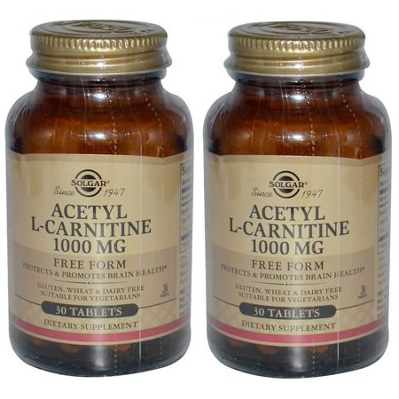 Solgar - Acetyl, L-Carnitine, 1000 mg, 30 Tablets - 2 (Solgar Acetyl L Carnitine 1000 Mg 30 Tablets)