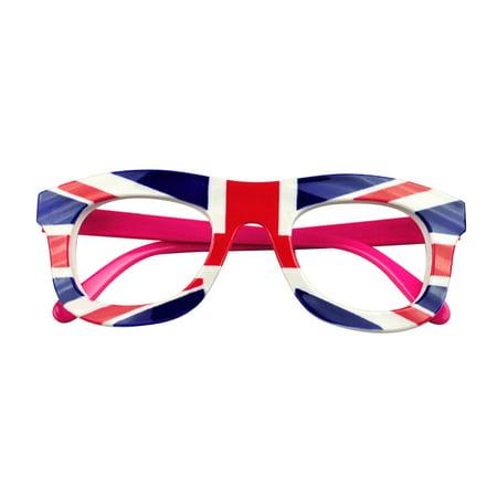 Aspire Flag Eyeglasses Kids Decoration Glasses Frame Patriotism Party-England - Eyeglass Decorations