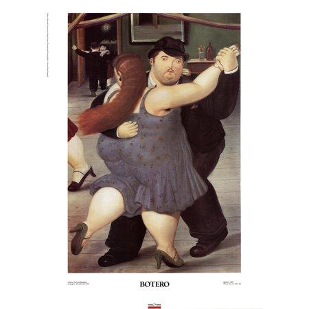 Fernando Botero-The Dancers-1991 Poster