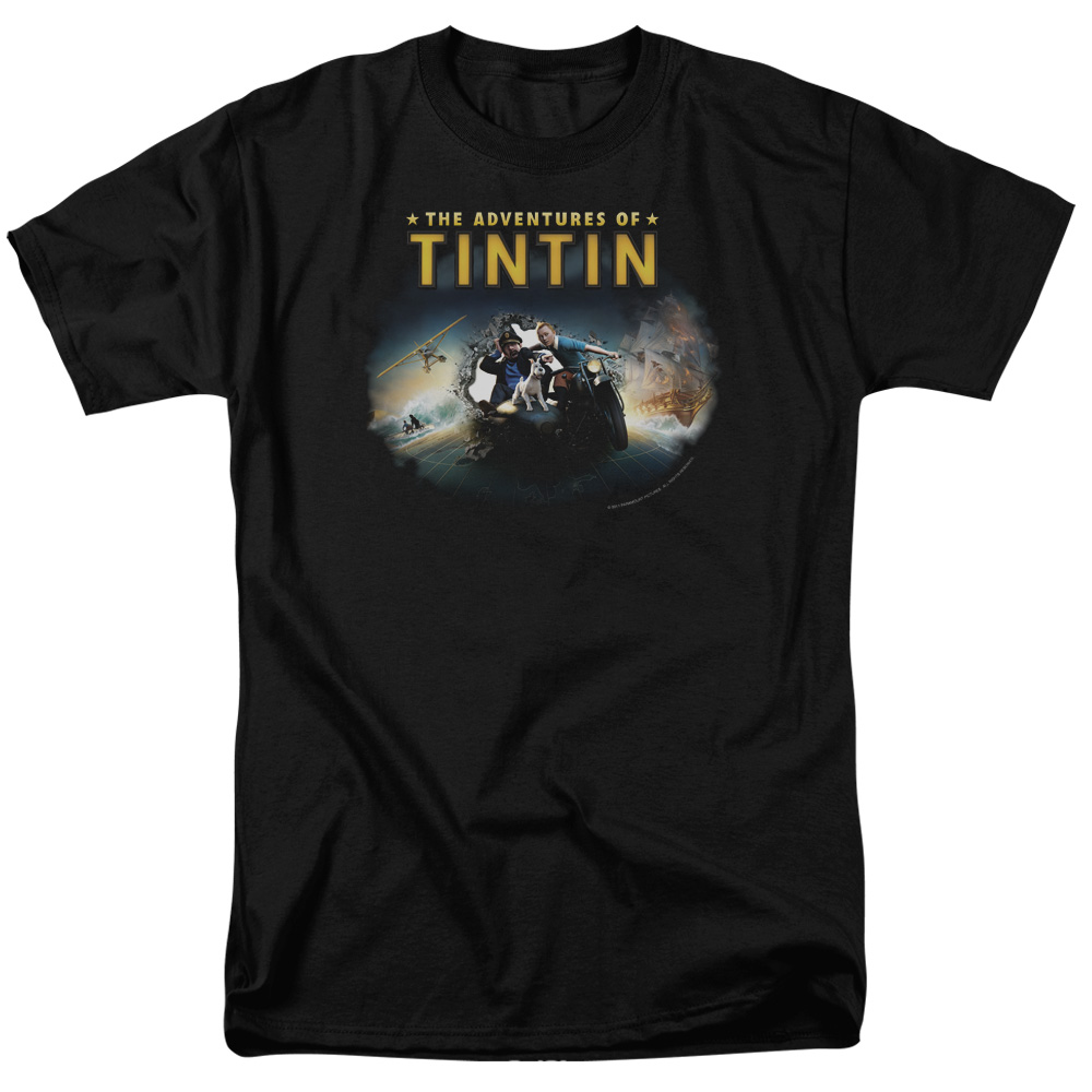 The Adventures of Tintin Journey Mens Short Sleeve Shirt
