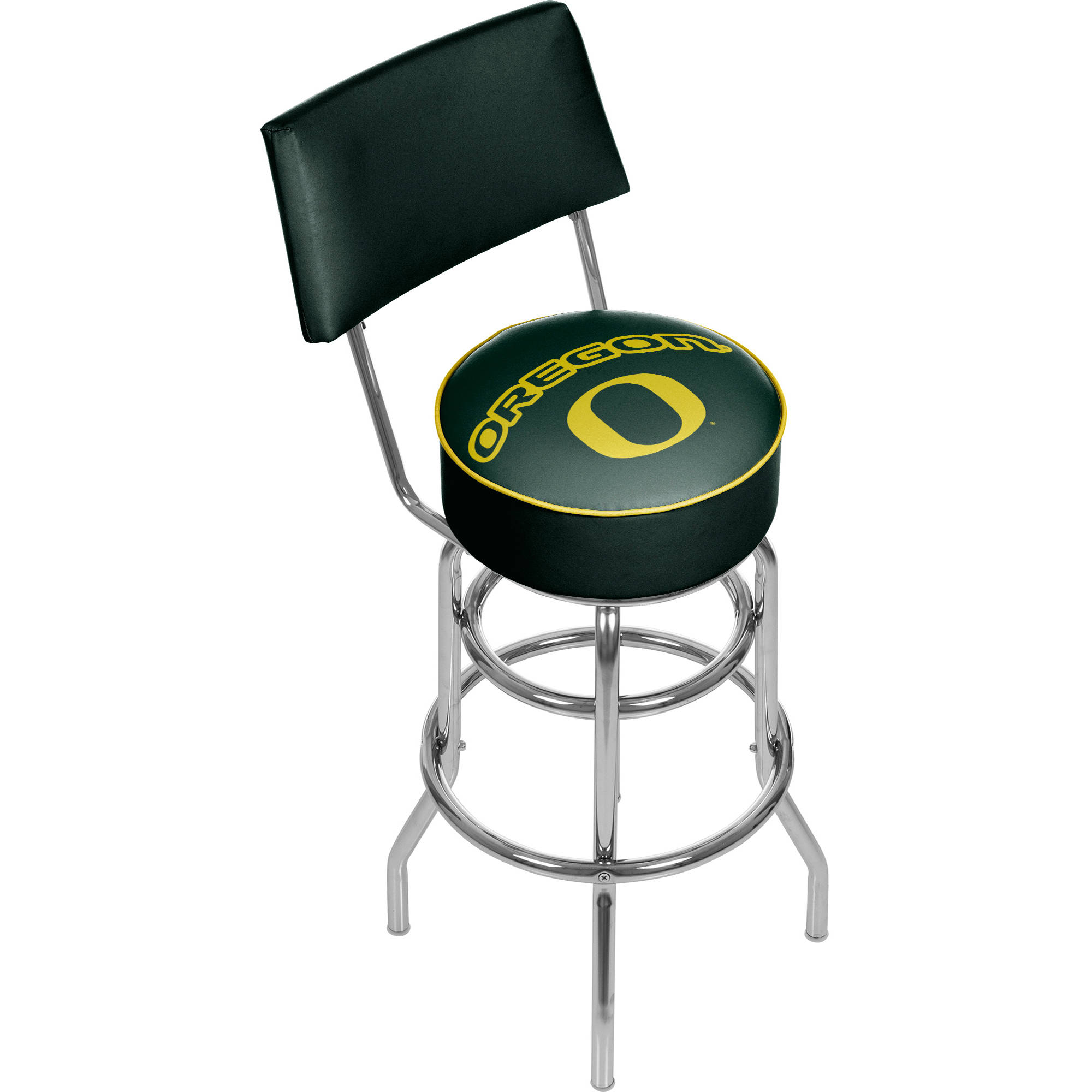 University of Oregon Swivel Bar Stool with Back