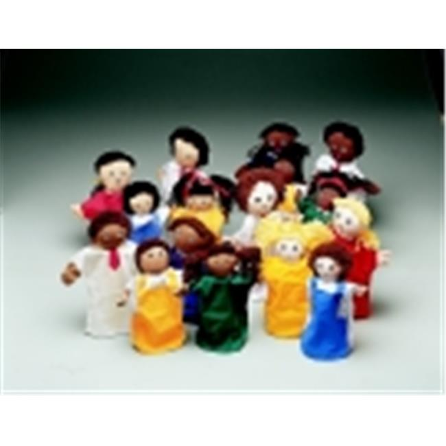 Childcraft Multi-Ethnic Family Puppet Set