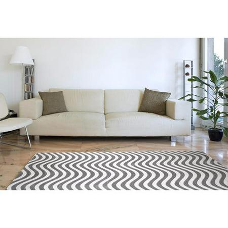 Persian Rugs 9010 Light Gray Swirl Luxury Polyester contemporary area rug