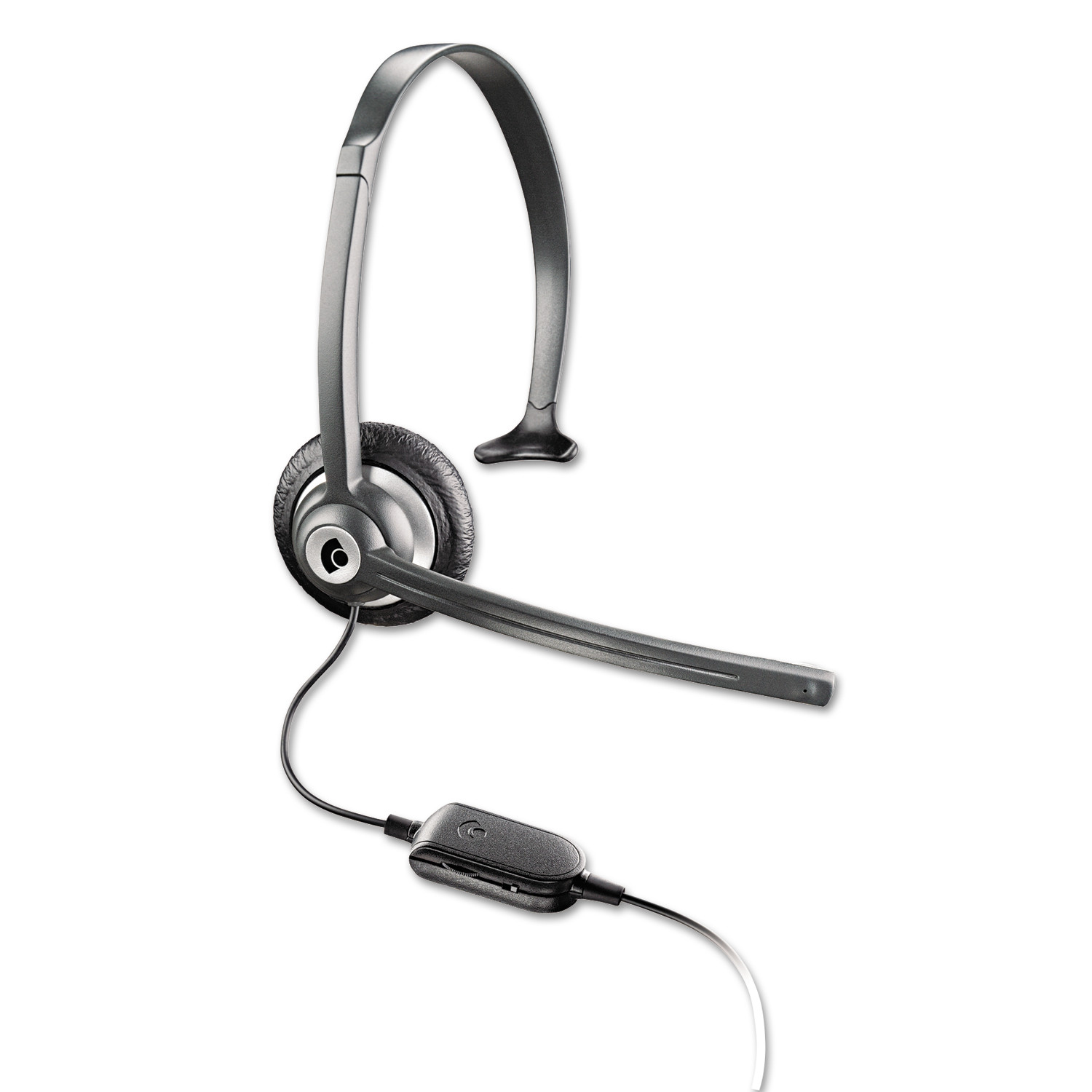 Plantronics M214C Over-the-Head Mobile/Cordless Phone Headset w/Noise Canceling Mic