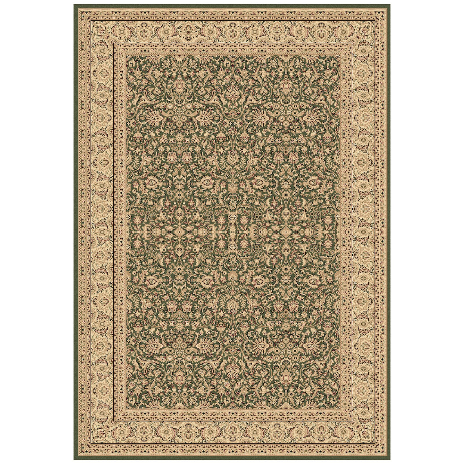 Dynamic Rugs Legacy 58004 All-Over Persian Rug - Green