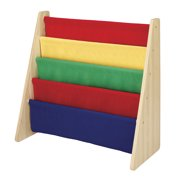 Whitmor Kids 5-Pocket Book Stand / Organizer - Primary Colors