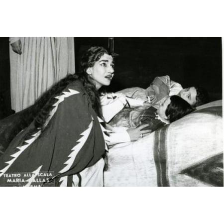 Maria Callas La Scala Theatre Stretched Canvas - Maria Callas (18 x 24)