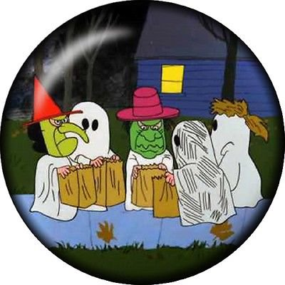 Snap button Ghost Witch halloween 18mm charm chunk interchangeable - Snap Judgment Halloween