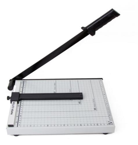 """Zimtown A3/B4/A4 Guillotine Paper Cutter, Adjustable 18""""/15""""/12"""" Precise Desktop Manual Paper Cutter Trimmer, 15/12/10 Sheets Capacity, Heavy Duty Steel Base"""