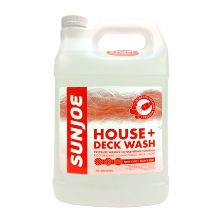 Sun Joe House + Deck All-Purpose Pressure Washer Rated Concentrated Cleaner, Clear | 1 Gal.