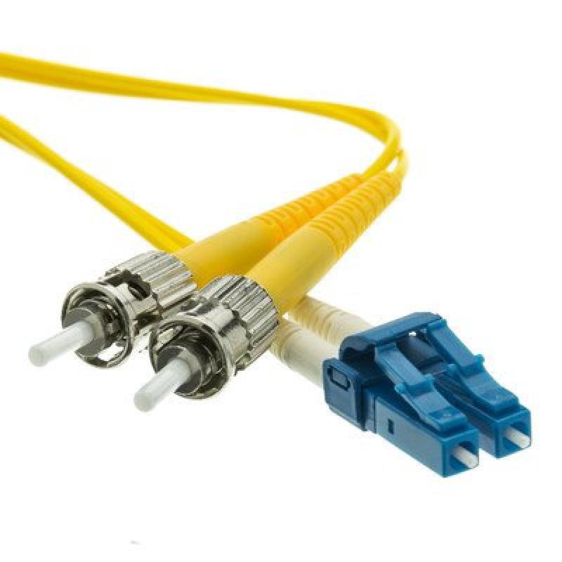LC/ST Singlemode Duplex Fiber Optic Cable, 9/125, 15 meter ( 2 PACK ) BY NETCNA