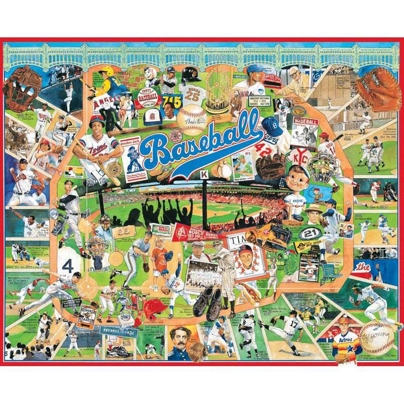 White Mountain Puzzles Baseball Greats 1000 Piece Jigsaw Puzzle