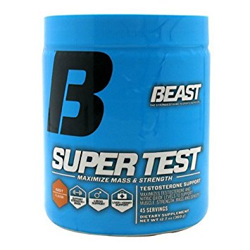 Beast Super Test Powder - Professional Strength Testosterone Booster with Nitric Oxide Support for Enhanced Muscle Growth, 45