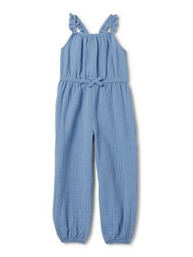 Wonder Nation Baby & Toddler Girls' Sleeveless Jumpsuit
