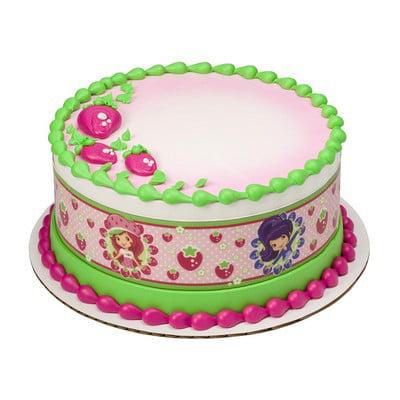 Strawberry Shortcake  Edible Border Cake Decoration for $<!---->
