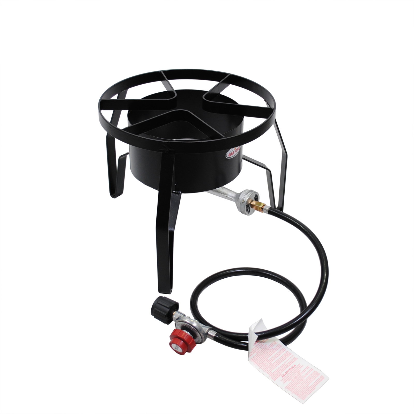 Heavy Duty Portable Propane Single High Pressure Burner Outdoor Round Cooker/ Camp Stove 80,000 BTU by Gas One