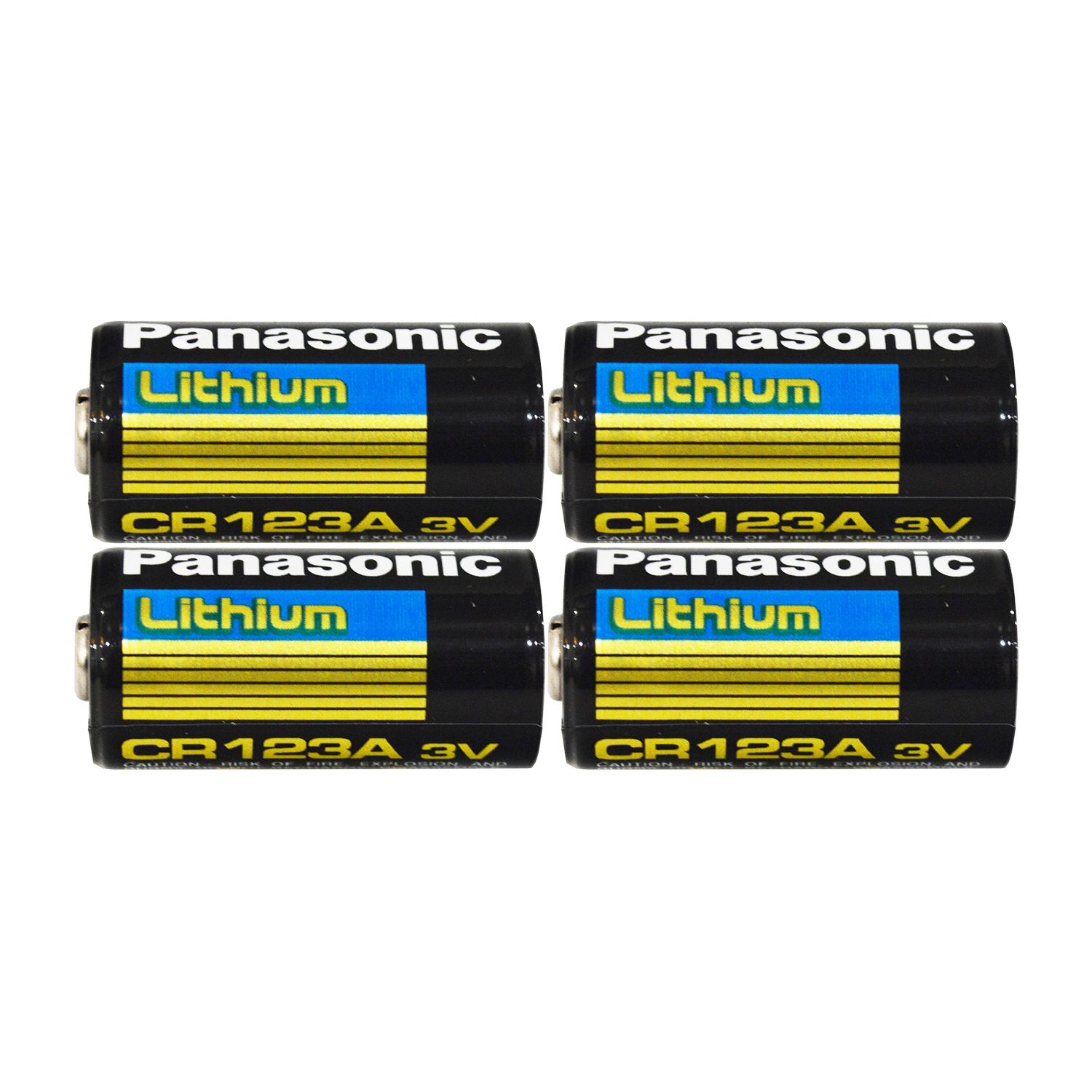 4 Pack - Panasonic CR123A 3V Long Lasting Lithium Batteries