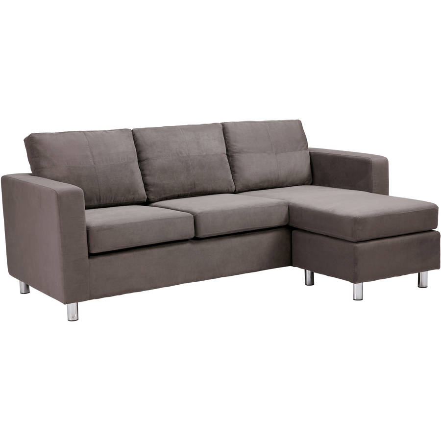 Charmant Small Spaces Sectional Sofa   Grey