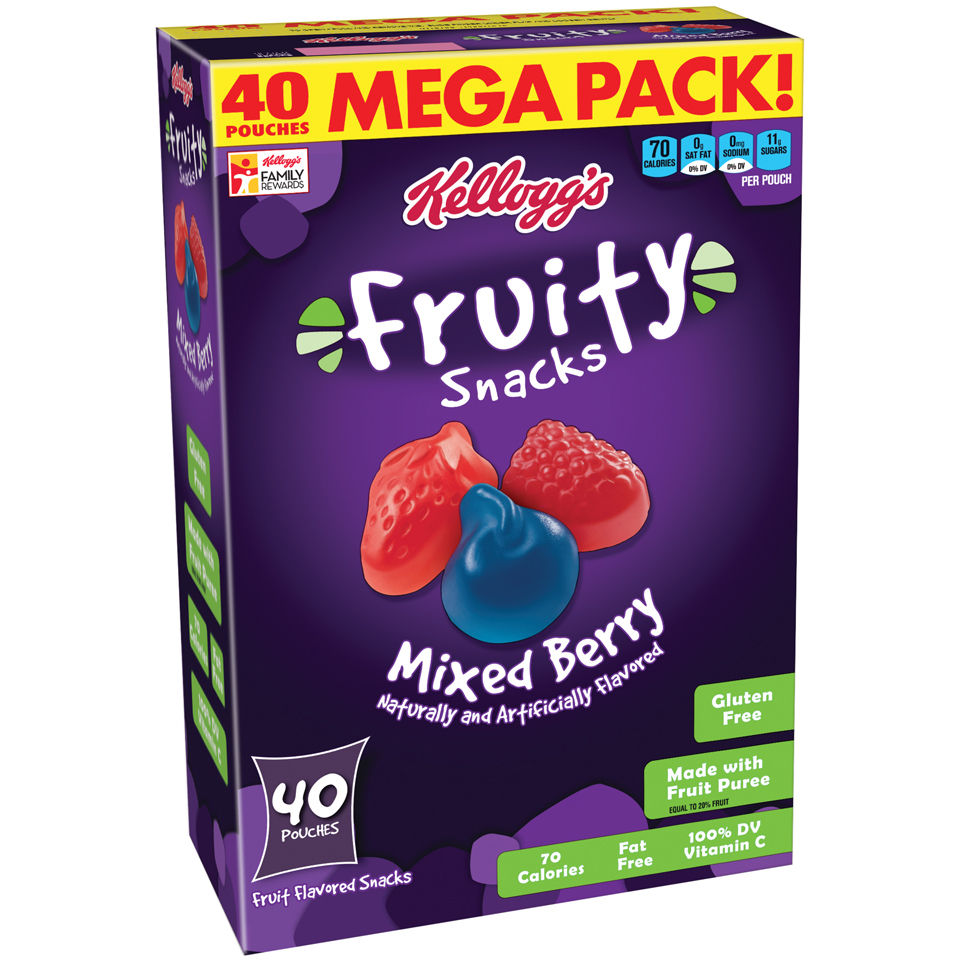 Kellogg's Fruity Snacks Mixed Berry Fruit Flavored Snacks 40 ct 32 oz.