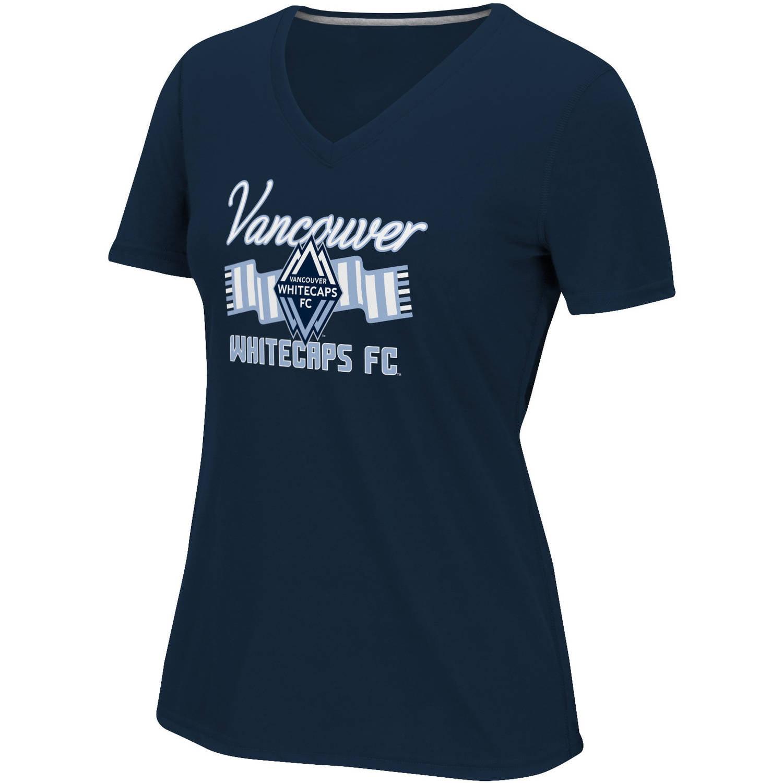 MLS-Vancouver Whitecaps-Women's Middle Logo Scarf Tee