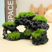 Aquarium Coral Reef Rock Decor Imitation Moss Decor Ornament Fish Tank Marine Cichlid