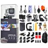 GoPro Hero 4 HERO4 Black Edition CHDHX-401 with Floating Strap + Cleaning Kit + 2 Batteries + Travel Charger + X-Grip Stabilizer + Car Suction Cup + Backpack + Chest Strap + Head Strap + More